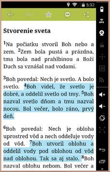 Slovak Bible apk screenshot