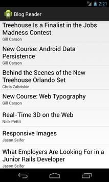 Blog Reader apk screenshot
