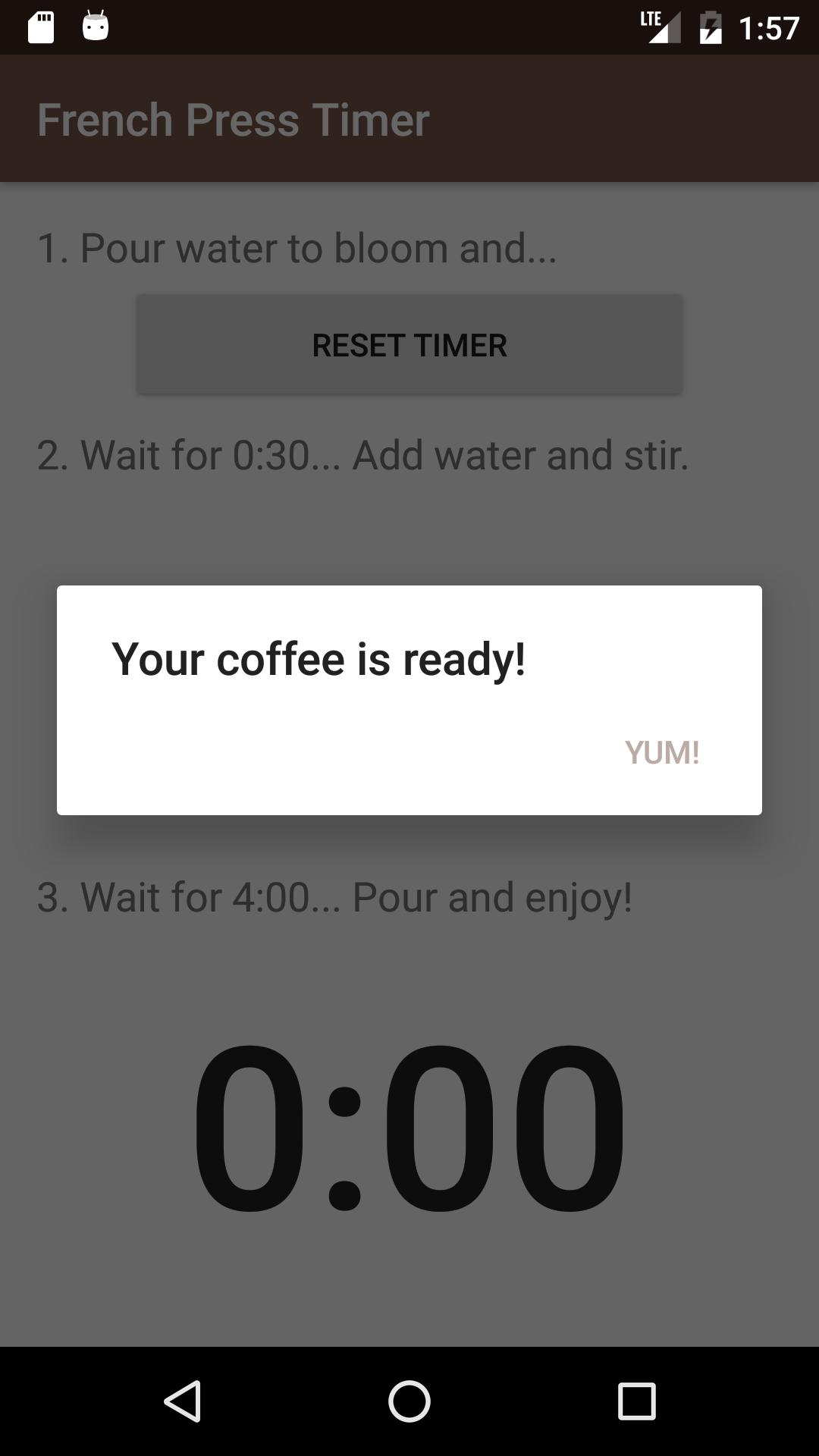French Press Timer poster