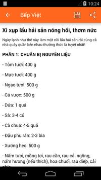 Bếp Việt - Món Ăn Việt apk screenshot