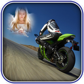 Racing Bike Photo Frames icon