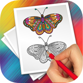 insects coloring mania icon