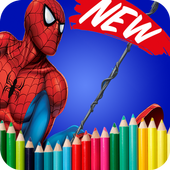Coloring Book For Spider Hero Man Guide icon