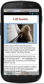 Best Body Quotes apk screenshot