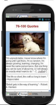 Best Learning Quotes apk screenshot