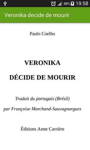 DECIDE ROMAN MOURIR LE VERONIKA TÉLÉCHARGER DE