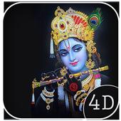 4D Lord Krishna Live Wallpaper icon