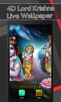 4D Lord Krishna Live Wallpaper screenshot 5