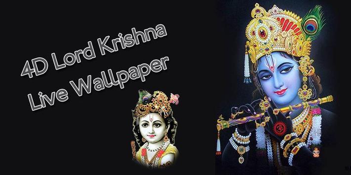 4D Lord Krishna Live Wallpaper poster
