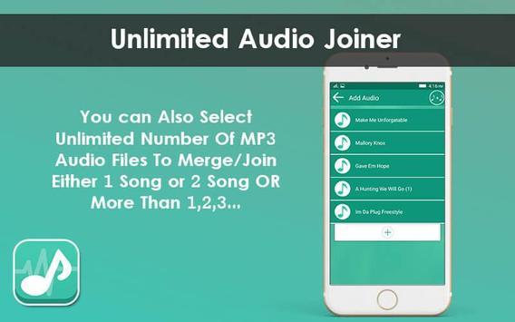 Multiple MP3 Audio Merger - Unlimited Audio Joiner screenshot 6