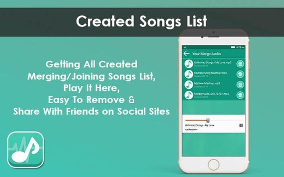 Multiple MP3 Audio Merger - Unlimited Audio Joiner screenshot 7