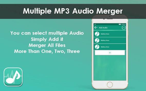 Multiple MP3 Audio Merger - Unlimited Audio Joiner screenshot 2