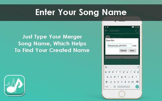 Multiple MP3 Audio Merger - Unlimited Audio Joiner screenshot 3