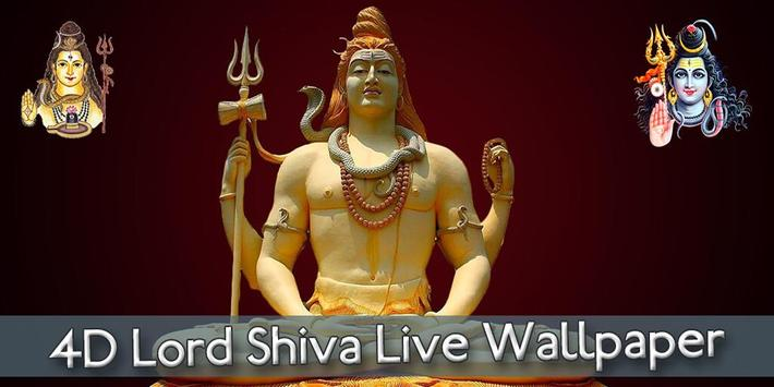 4D Lord Shiva Live Wallpaper poster