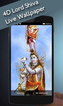 4D Lord Shiva Live Wallpaper apk screenshot