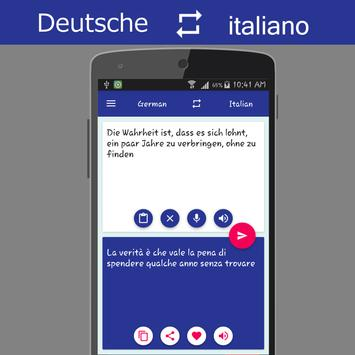 German Italian Translator screenshot 2