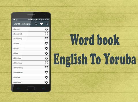Word book English to Yoruba screenshot 5