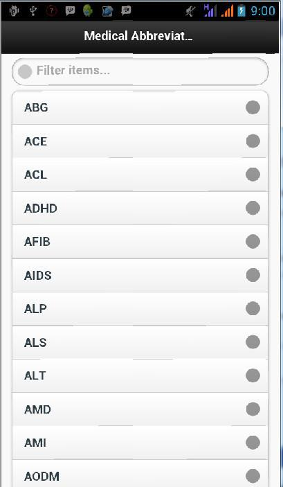 Medical Abbreviation List for Android - APK Download
