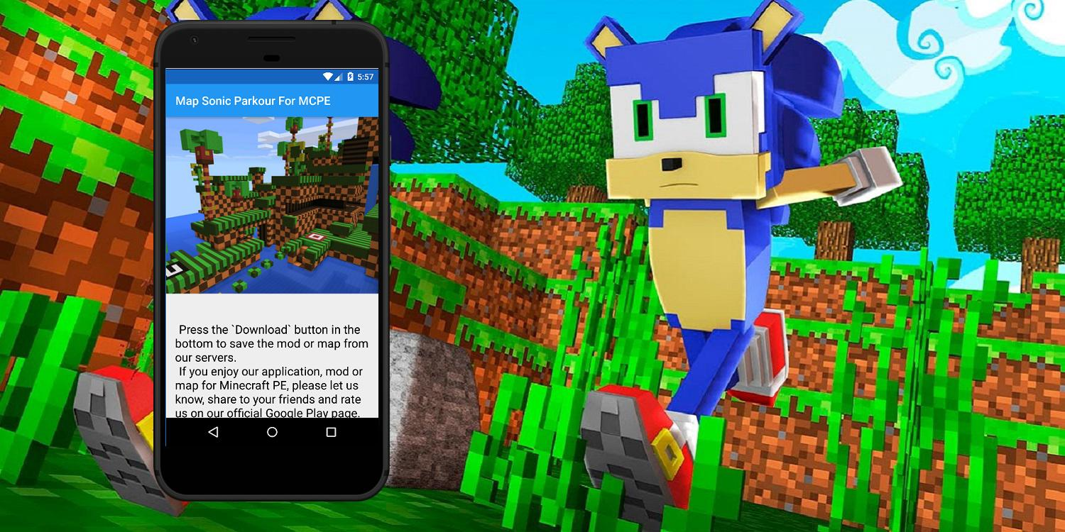 Sonic parkour map for Minecraft PE  Maps for MCPE for