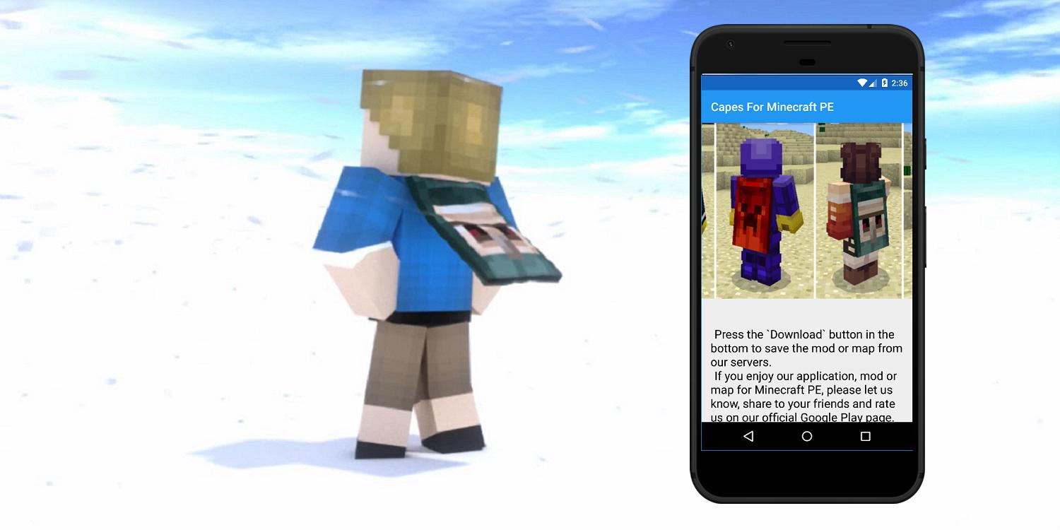 Capes Mod For Minecraft Pe Mods For Mcpe For Android Apk Download