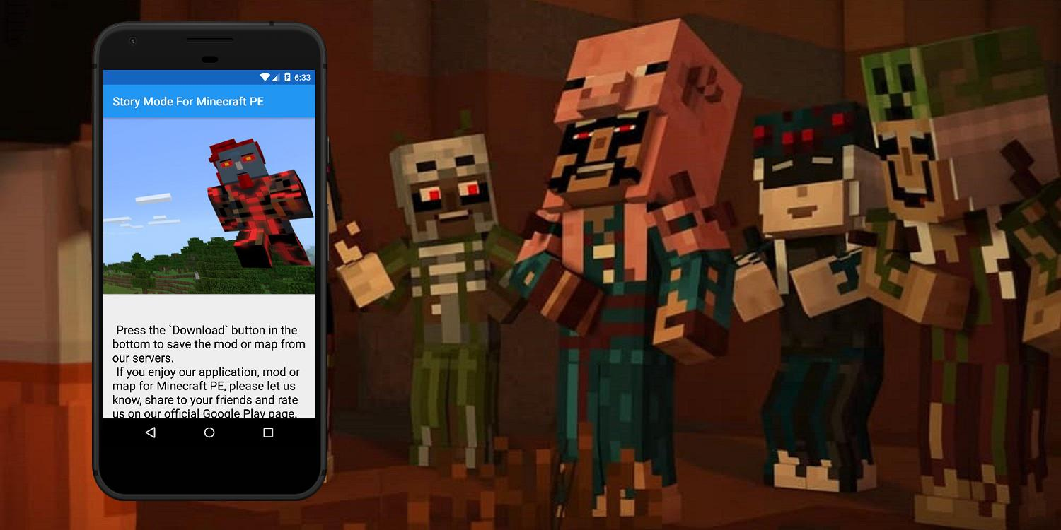 Story Mode mod For Minecraft PE  Mods for MCPE for Android - APK