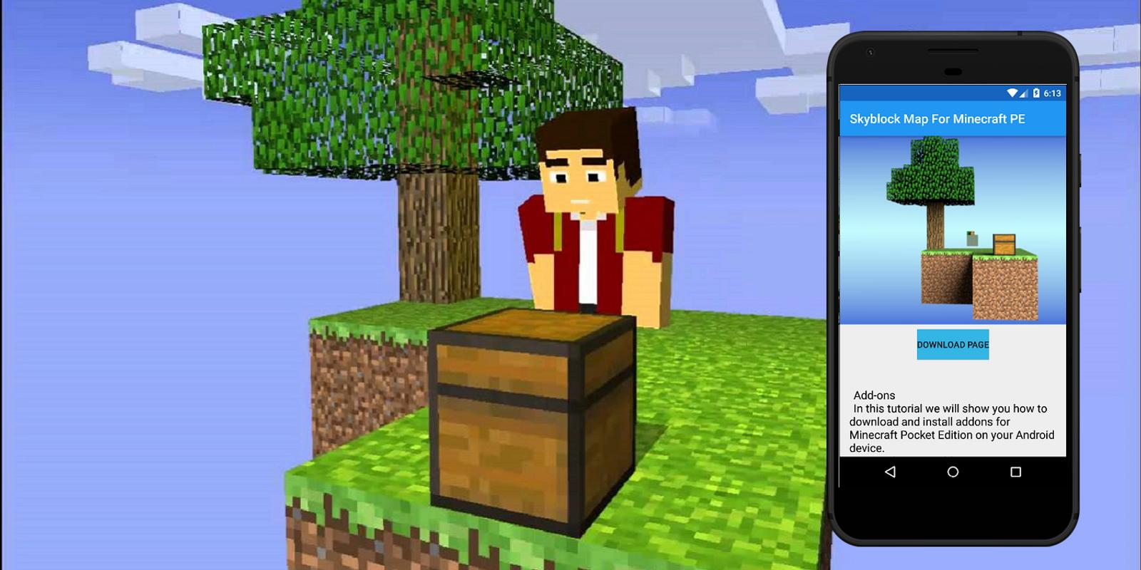 Skyblock map for Minecraft PE. Maps for MCPE for Android - APK Download