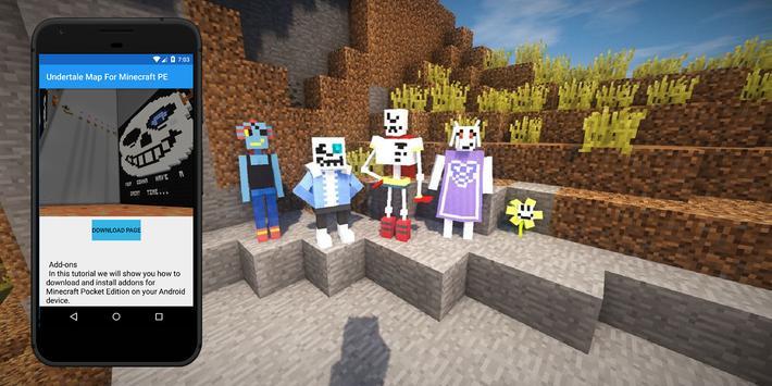 Minecraft Karte.Undertale Karte Für Minecraft Pe Karten Für Mcpe Für Android Apk