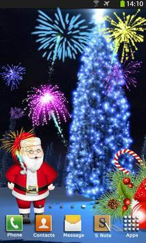 Christmas Fireworks Wallpaper poster