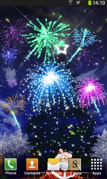 Christmas Fireworks Wallpaper screenshot 1