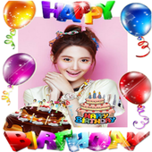 Happy Birthday Card Sticker icon