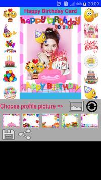 Happy Birthday Card Sticker poster