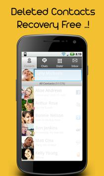 Deleted Contacts Recovery apk screenshot