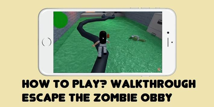 Guide Escape the Zombie Obby ROBLOX poster