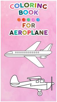 Aeroplane Coloring Book For Kids poster