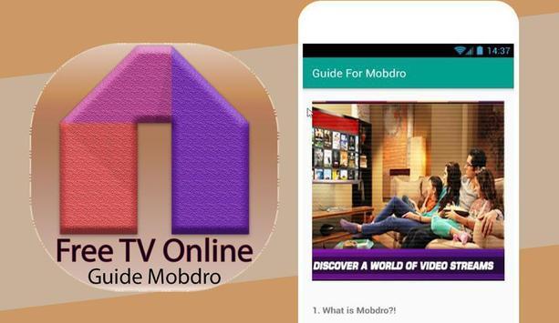 Guide For Mobdro Free OnlineTV screenshot 1