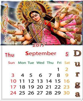 Durga Matha Calendar Themes - Lockscreen poster