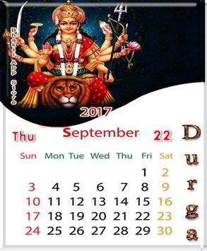 Durga Matha Calendar Themes - Lockscreen apk screenshot