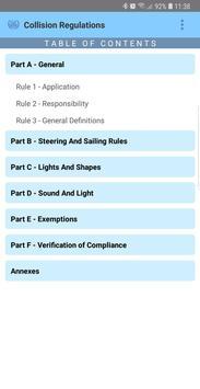 IMO Collision Regulations apk screenshot
