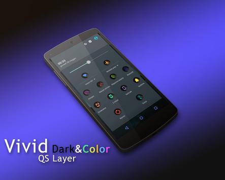 Vivid DarkColor - Layers Theme apk screenshot