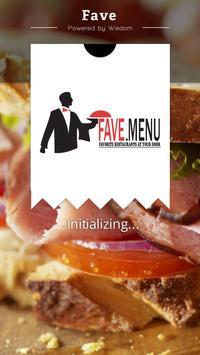 Fave Menu poster