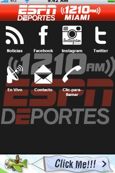 ESPN Deportes Miami 1210AM screenshot 1