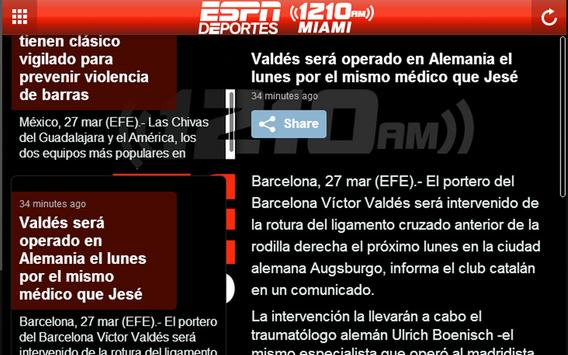 ESPN Deportes Miami 1210AM screenshot 2