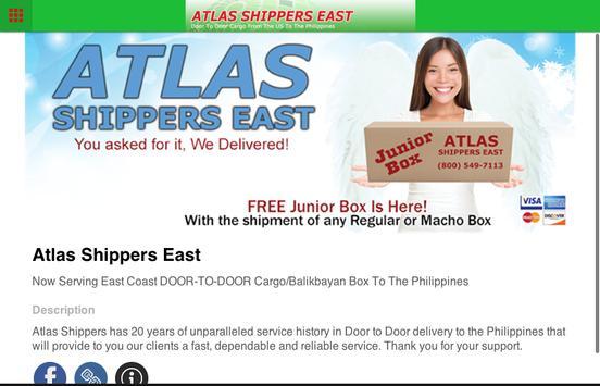 Atlas Shippers East apk screenshot