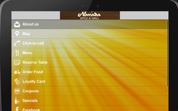 Narada Spice and Grill apk screenshot