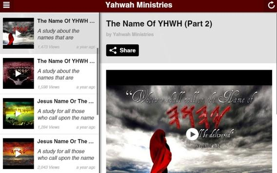 Yahwah Ministries apk screenshot