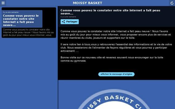 Moissy Basket Club screenshot 2