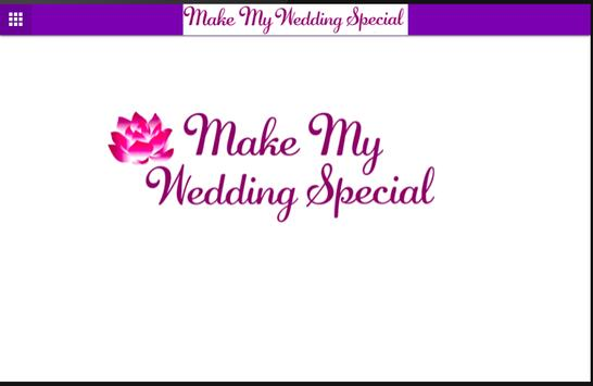 Make My Wedding Special apk screenshot