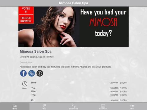 Mimosa Salon Spa apk screenshot