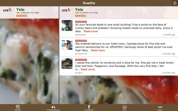 Duetto Pizza & Gelato apk screenshot