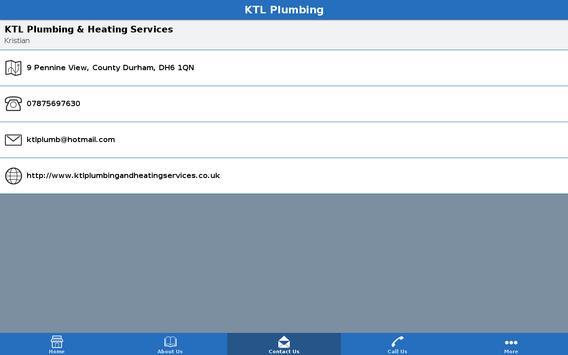 KTL Plumbing screenshot 1